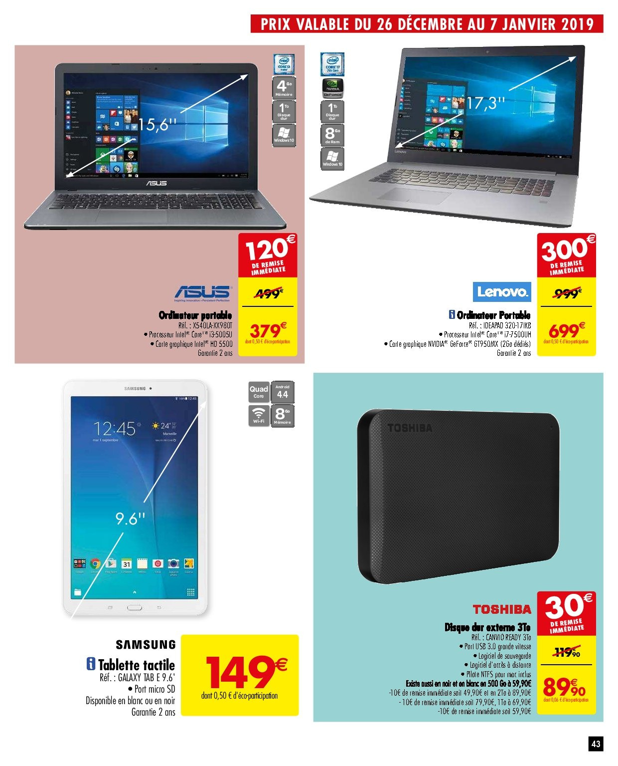 Catalogue Carrefour - 26.12.2018 - 31.12.2018. Page 43.