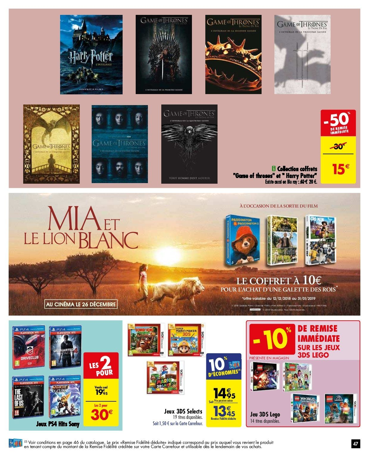 Catalogue Carrefour - 26.12.2018 - 31.12.2018. Page 47.