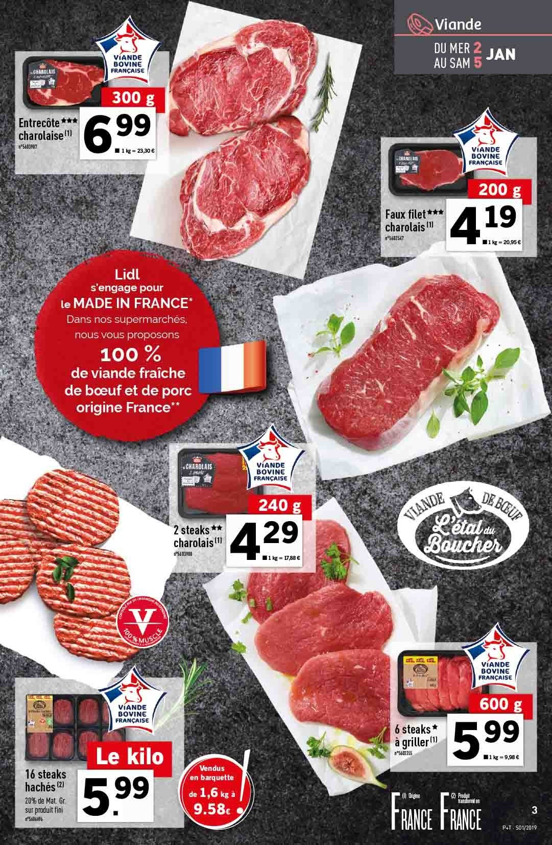 Catalogue Lidl - 02.01.2019 - 08.01.2019. Page 3.