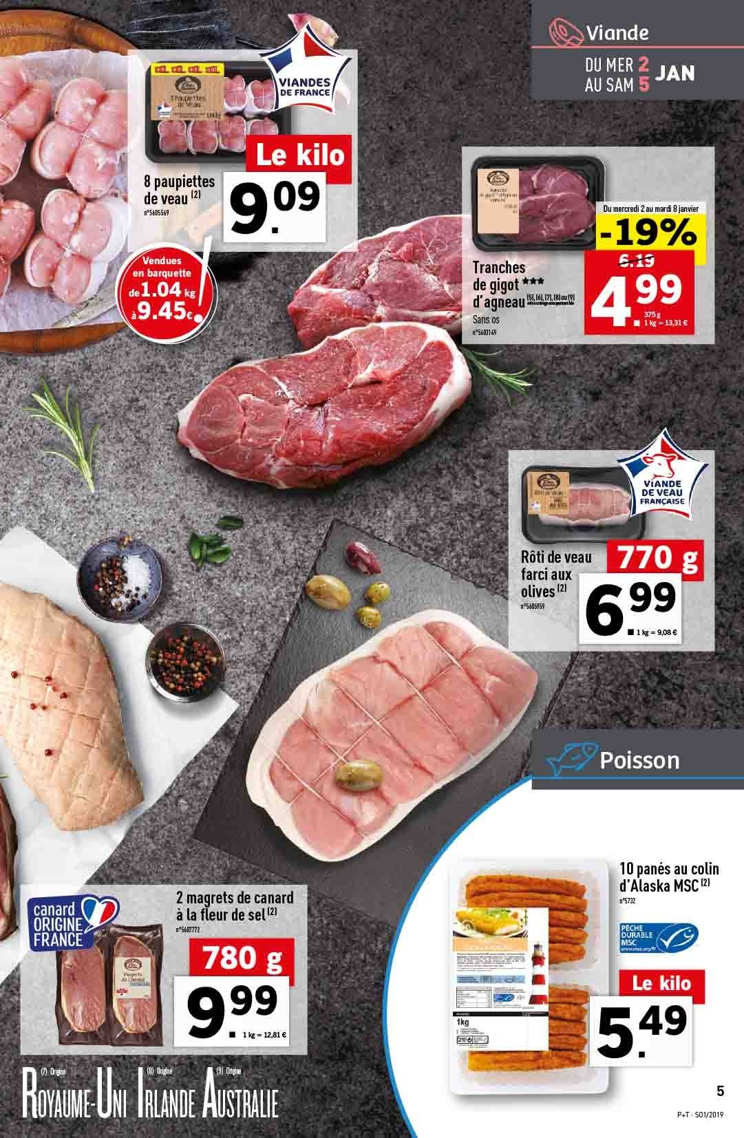 Catalogue Lidl - 02.01.2019 - 08.01.2019. Page 5.