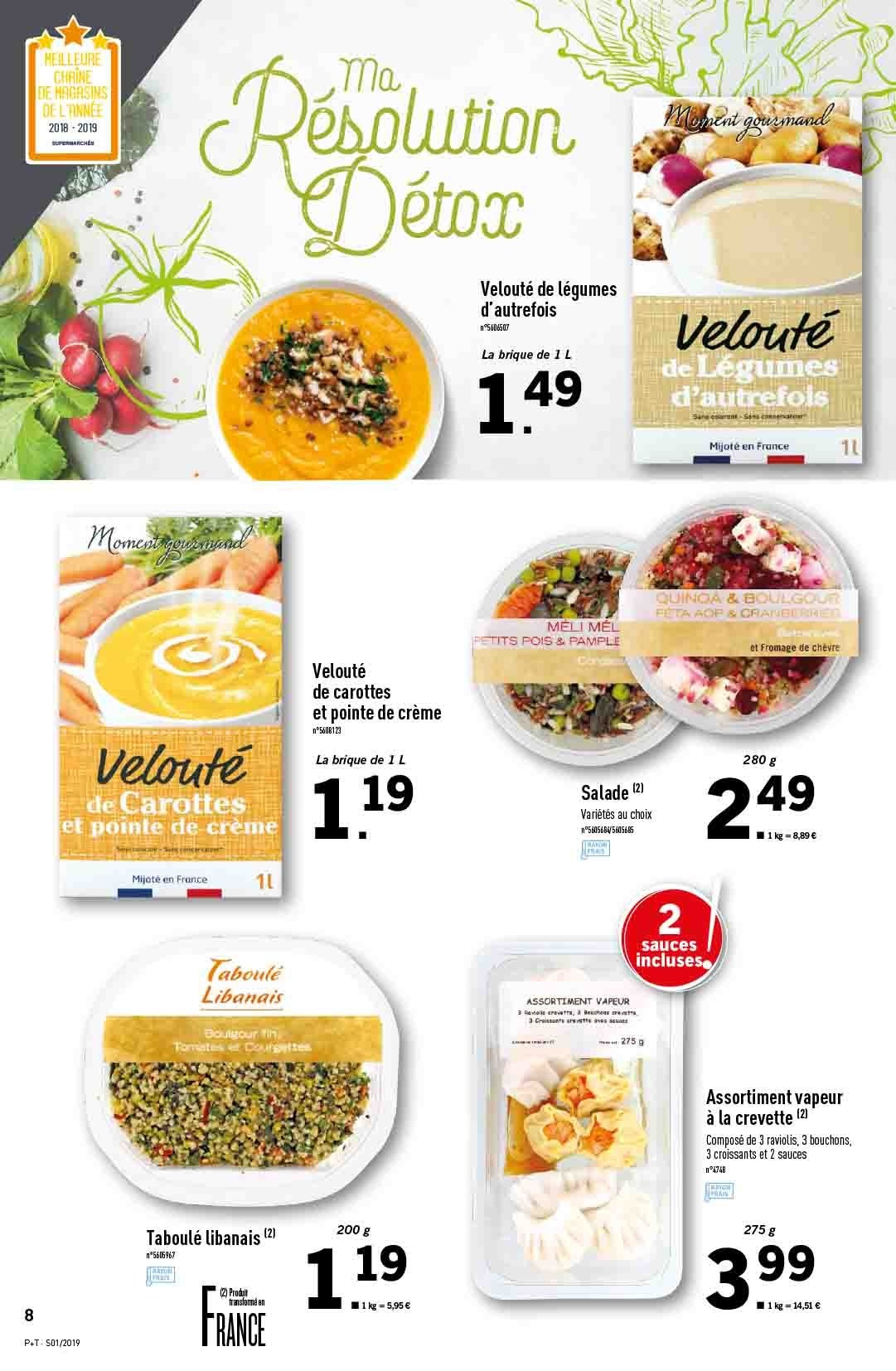Catalogue Lidl - 02.01.2019 - 08.01.2019. Page 8.