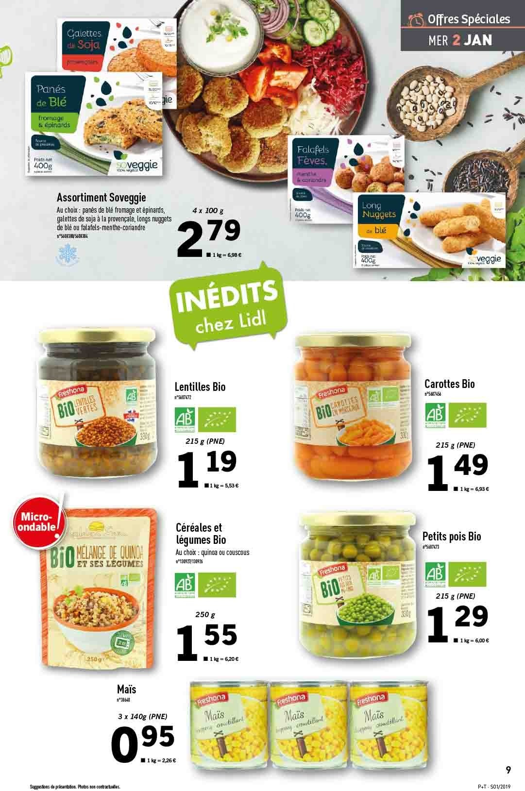 Catalogue Lidl - 02.01.2019 - 08.01.2019. Page 9.
