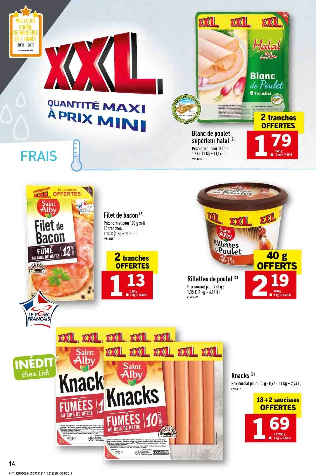 Catalogue Lidl - 02.01.2019 - 08.01.2019. Page 14.