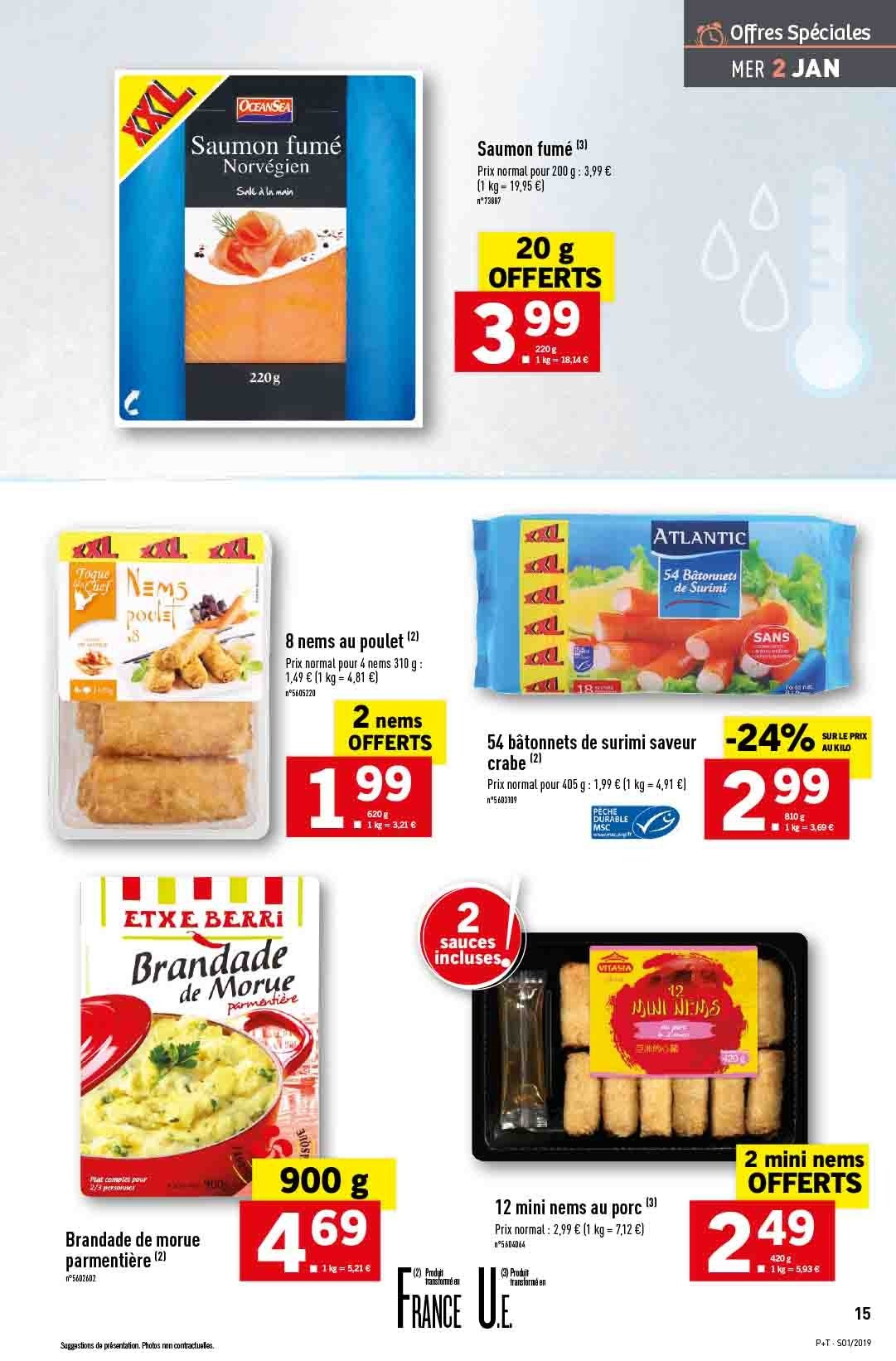 Catalogue Lidl - 02.01.2019 - 08.01.2019. Page 15.