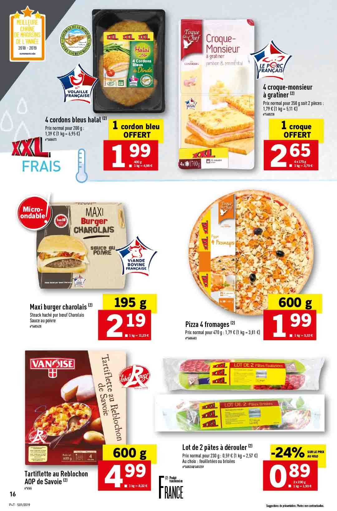 Catalogue Lidl - 02.01.2019 - 08.01.2019. Page 16.