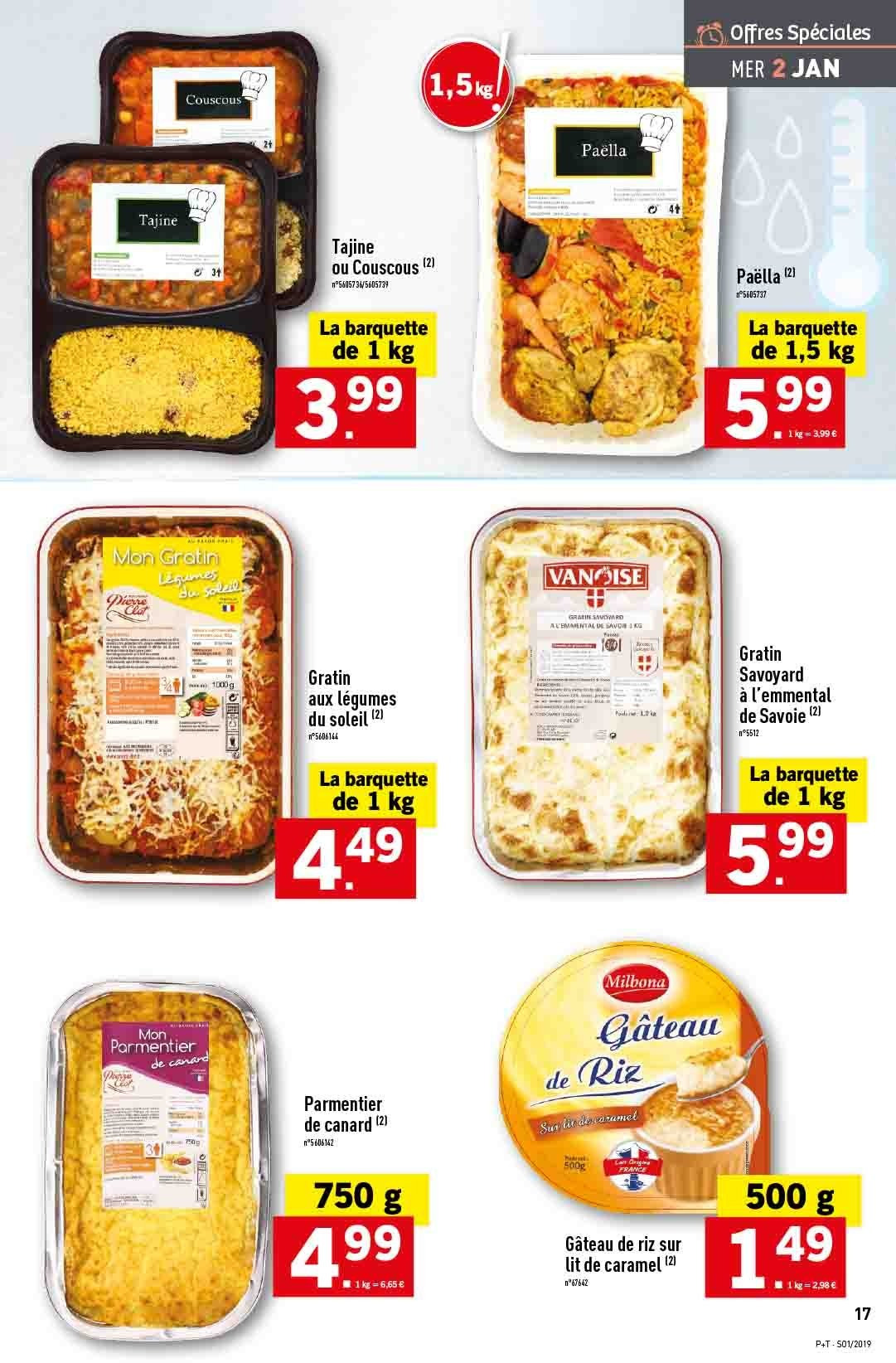 Catalogue Lidl - 02.01.2019 - 08.01.2019. Page 17.