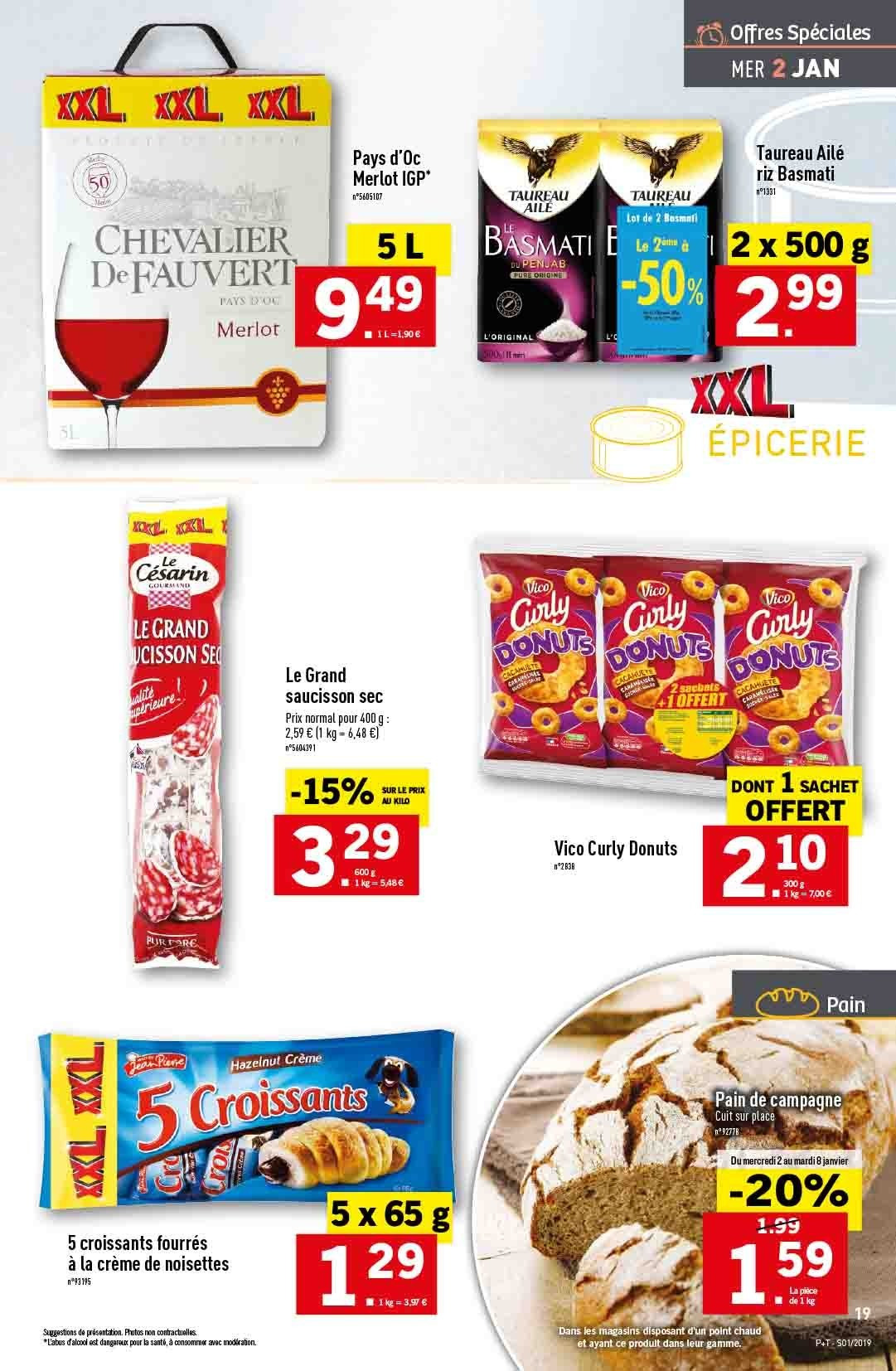 Catalogue Lidl - 02.01.2019 - 08.01.2019. Page 19.