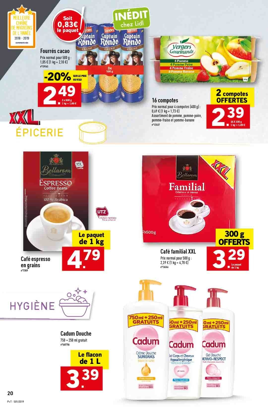 Catalogue Lidl - 02.01.2019 - 08.01.2019. Page 20.