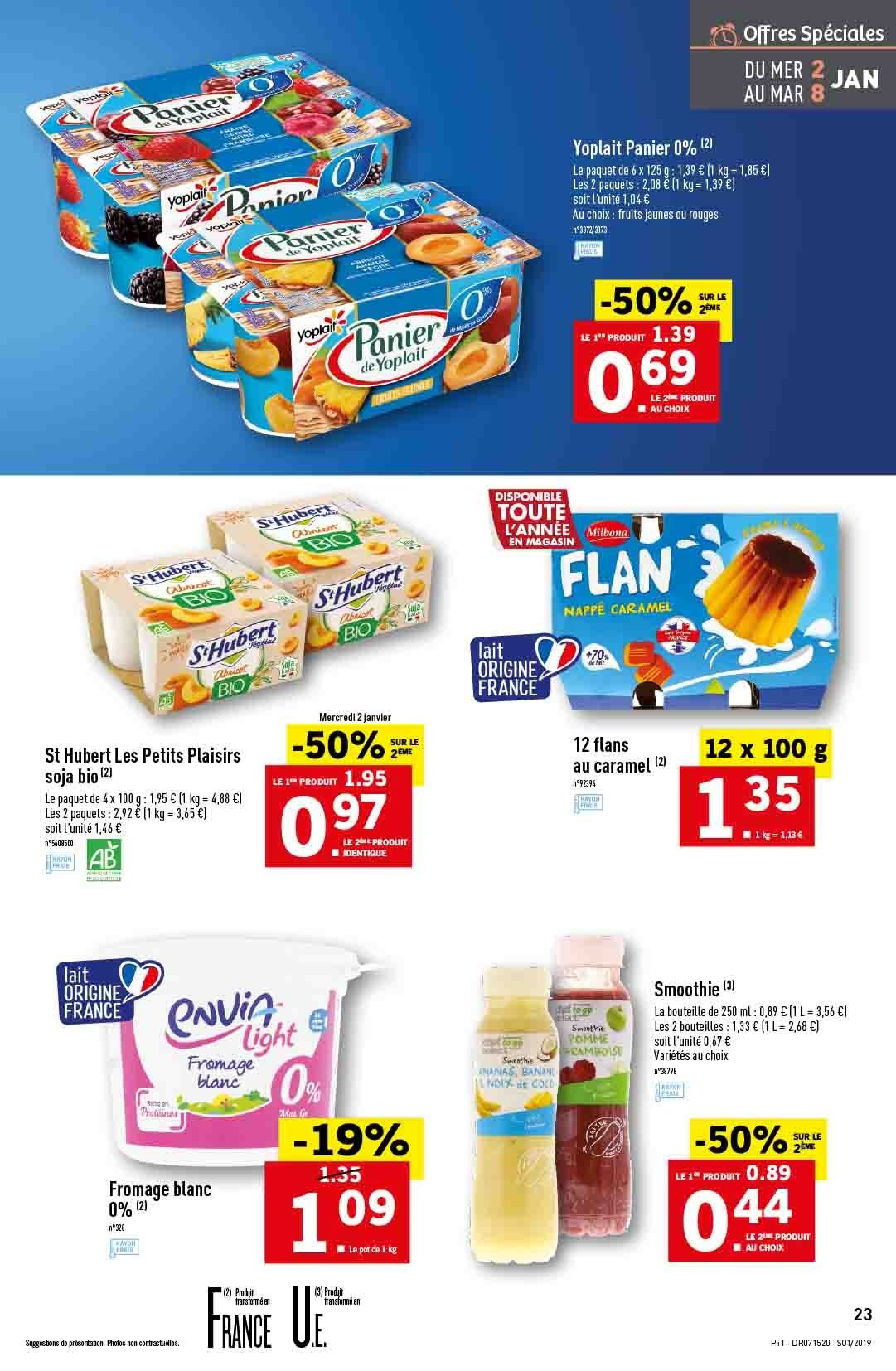 Catalogue Lidl - 02.01.2019 - 08.01.2019. Page 23.