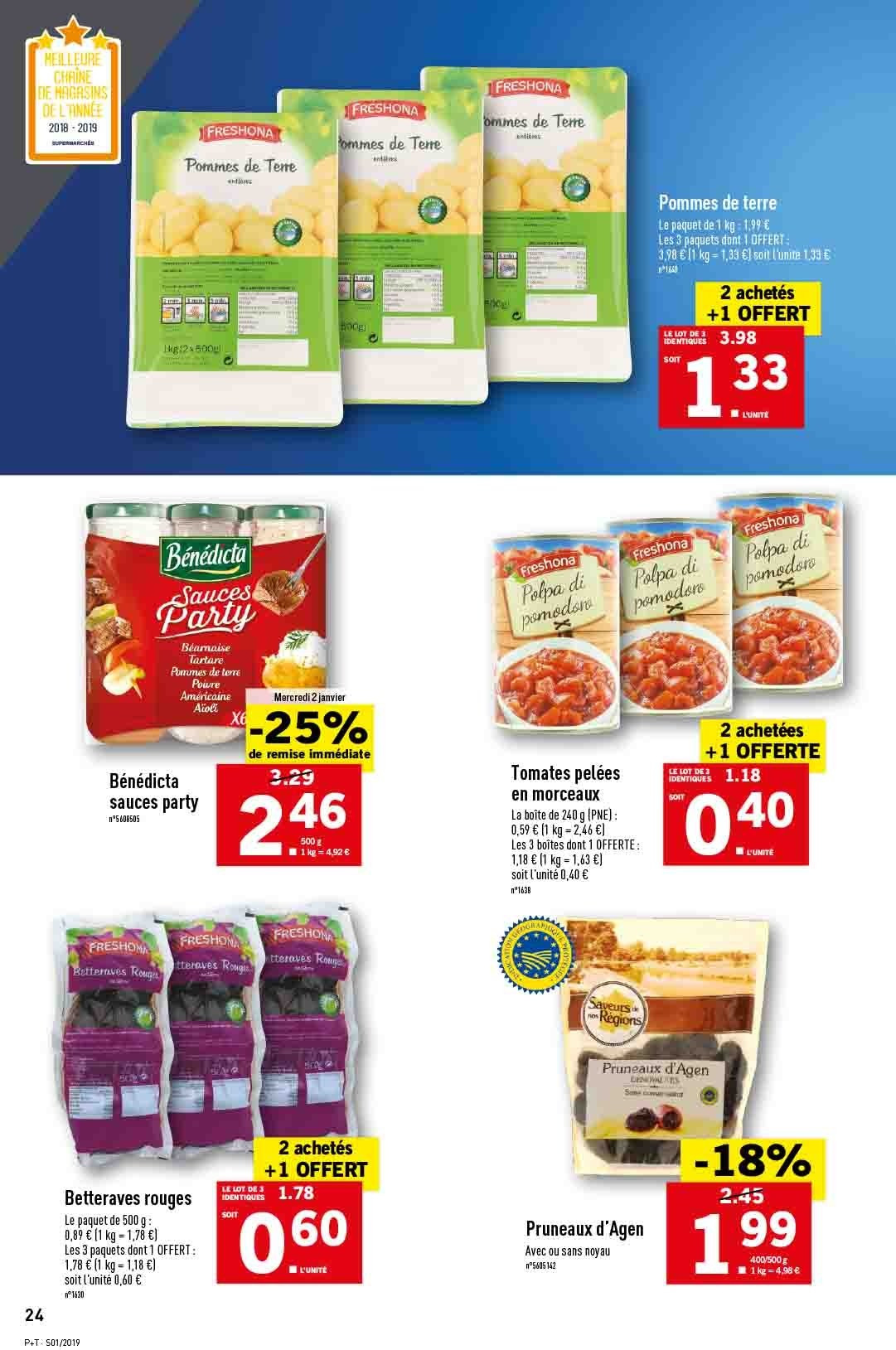 Catalogue Lidl - 02.01.2019 - 08.01.2019. Page 24.