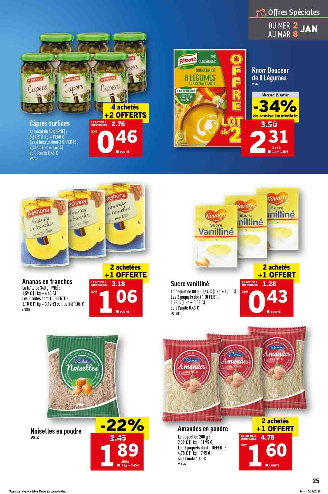 Catalogue Lidl - 02.01.2019 - 08.01.2019. Page 25.