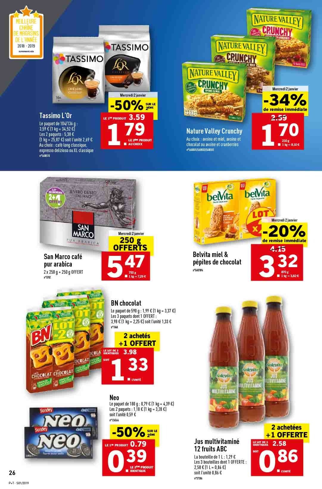 Catalogue Lidl - 02.01.2019 - 08.01.2019. Page 26.