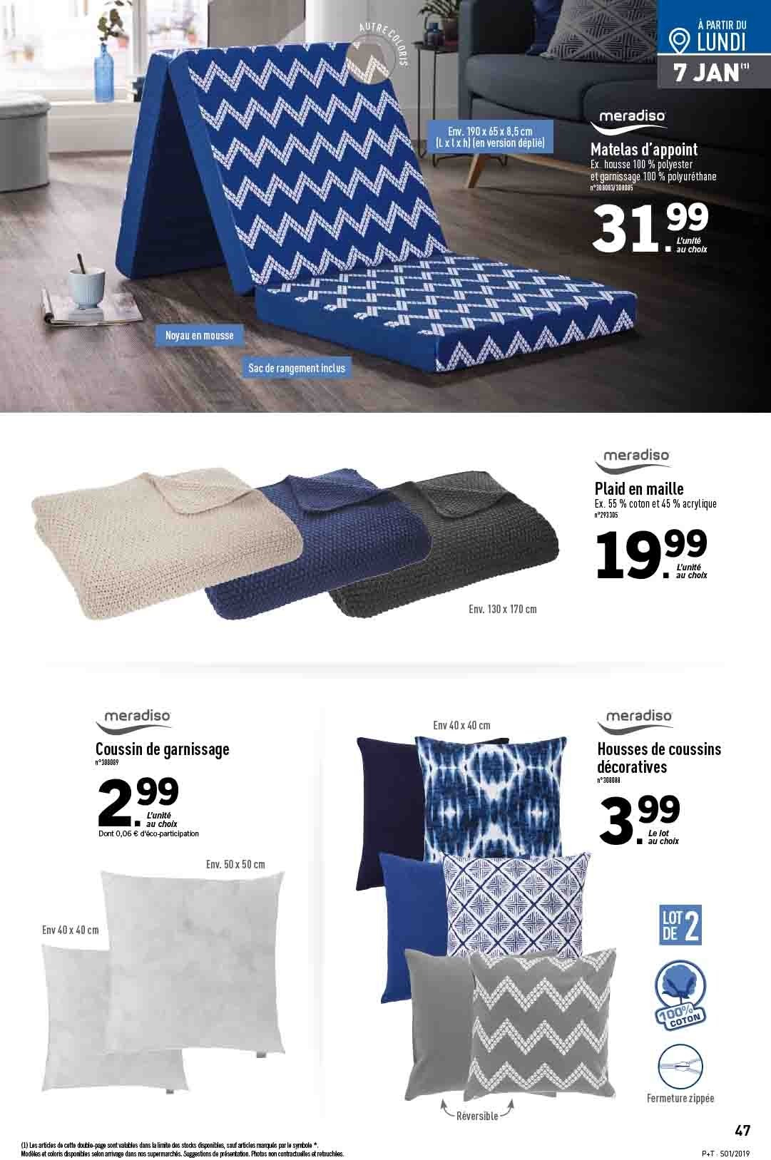 Catalogue Lidl - 02.01.2019 - 08.01.2019. Page 47.