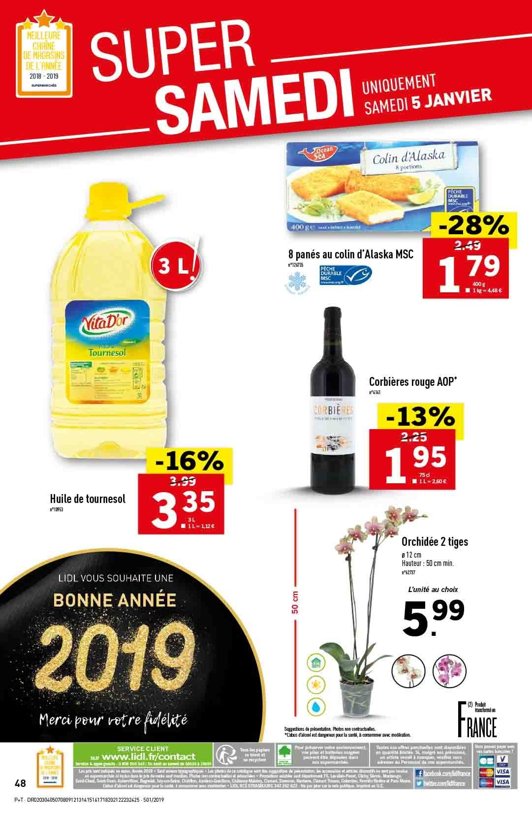 Catalogue Lidl - 02.01.2019 - 08.01.2019. Page 48.