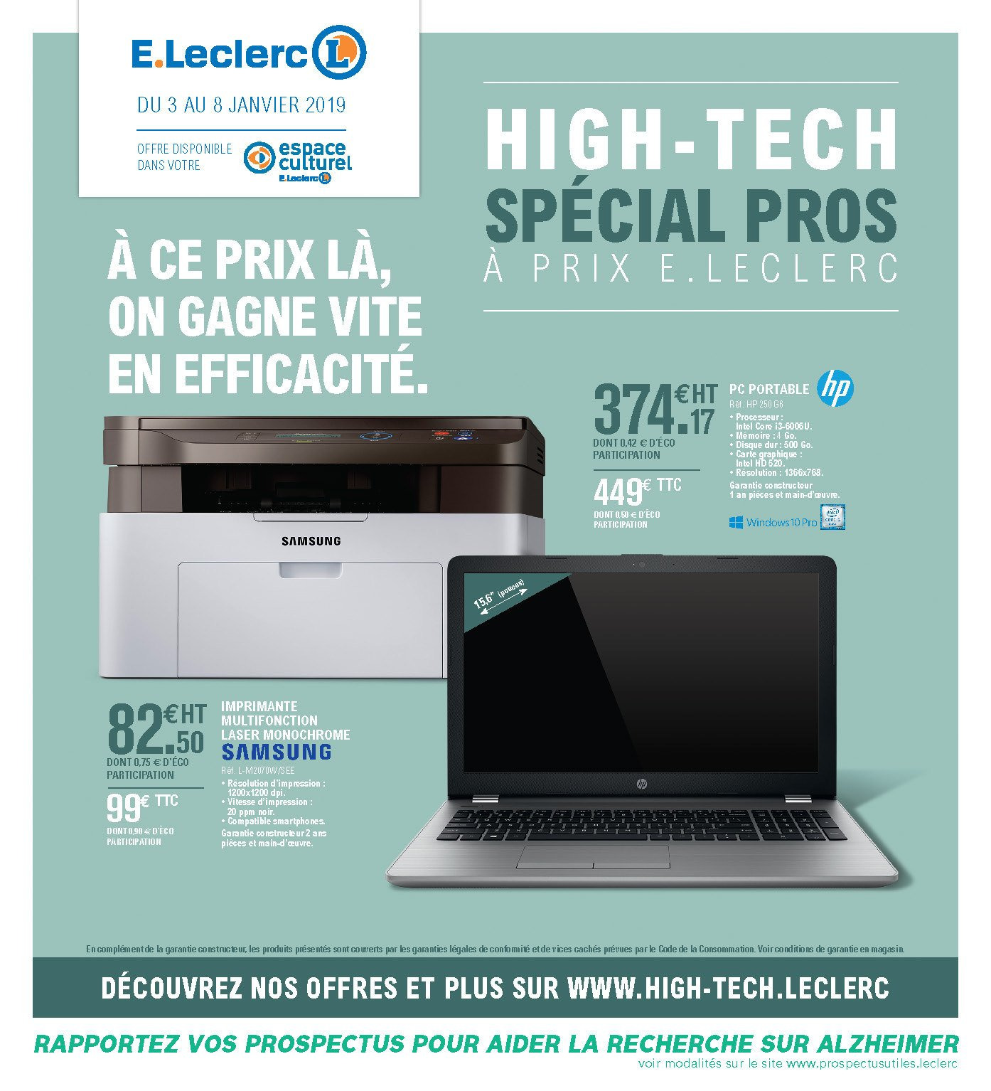 Catalogue E.Leclerc - 03.01.2019 - 08.01.2019. Page 1.