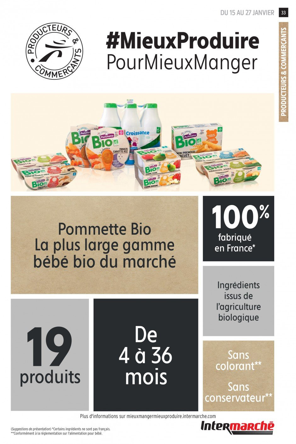 Catalogue Intermarché - 15.01.2019 - 27.01.2019. Page 33.