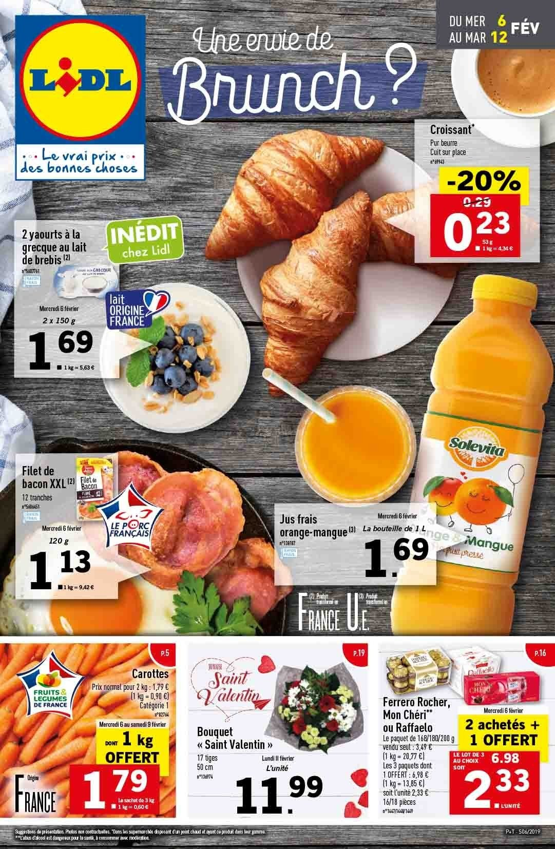 Catalogue Lidl - 06.02.2019 - 12.02.2019. Page 1.