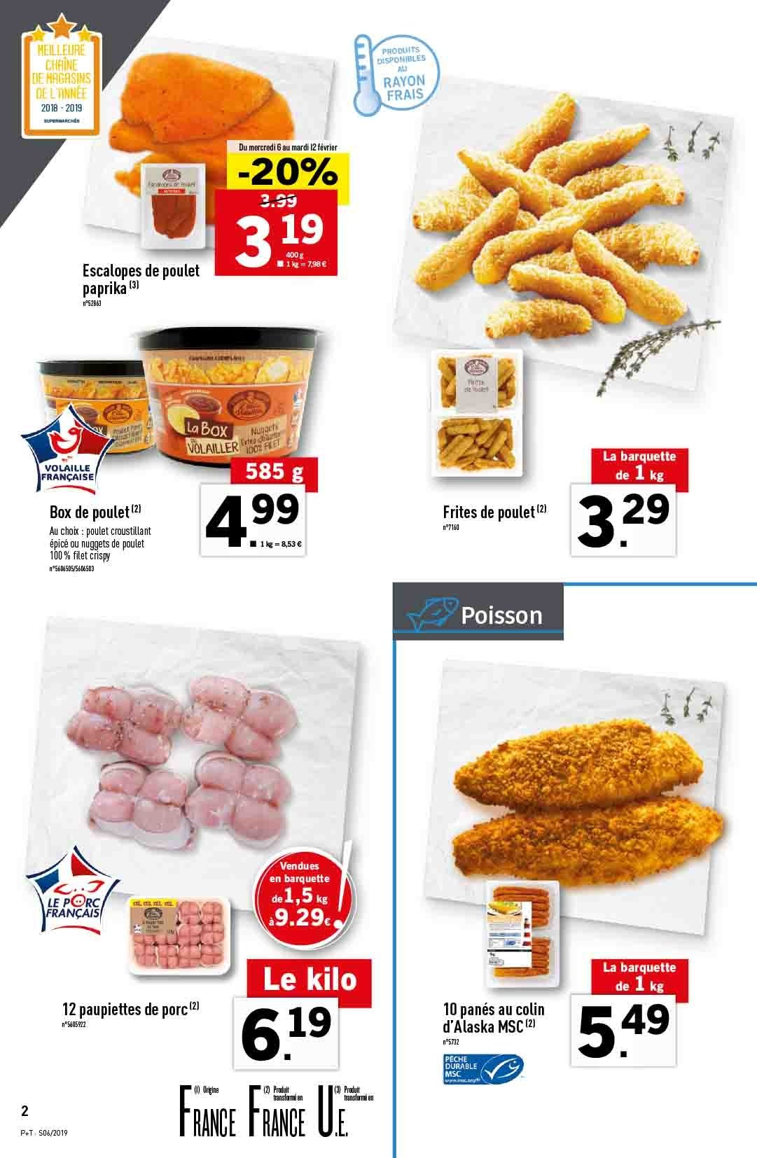 Catalogue Lidl - 06.02.2019 - 12.02.2019. Page 2.