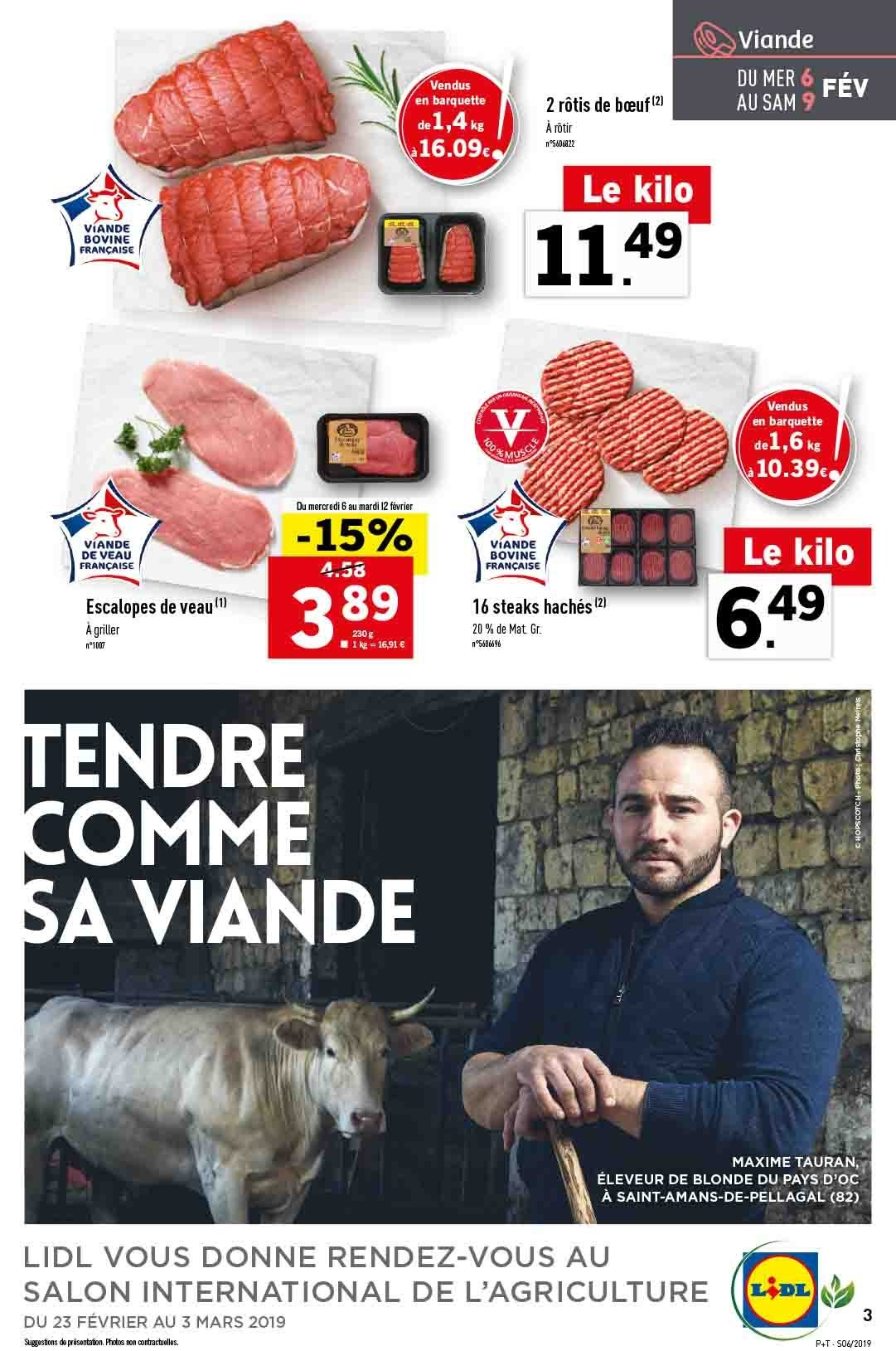 Catalogue Lidl - 06.02.2019 - 12.02.2019. Page 3.