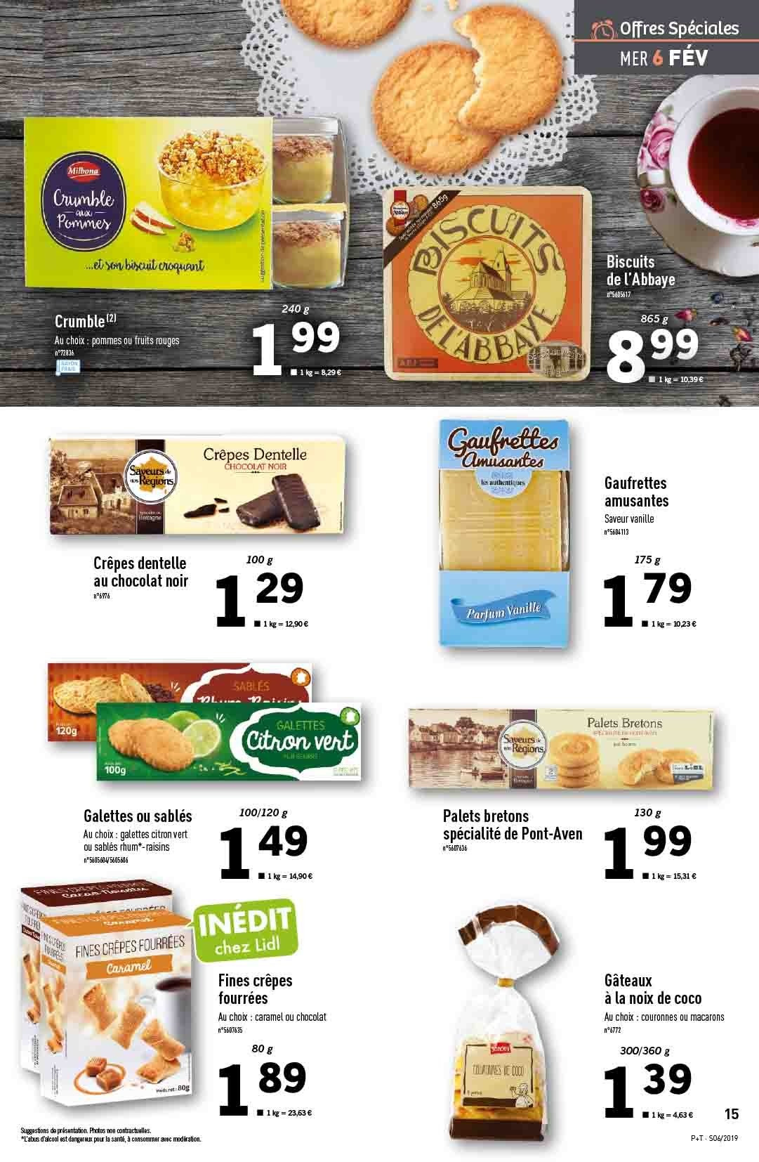 Catalogue Lidl - 06.02.2019 - 12.02.2019. Page 15.