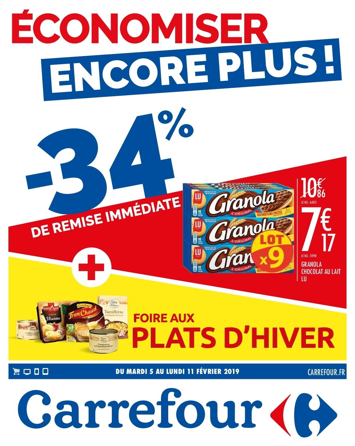 Catalogue Carrefour - 05.02.2019 - 11.02.2019. Page 1.