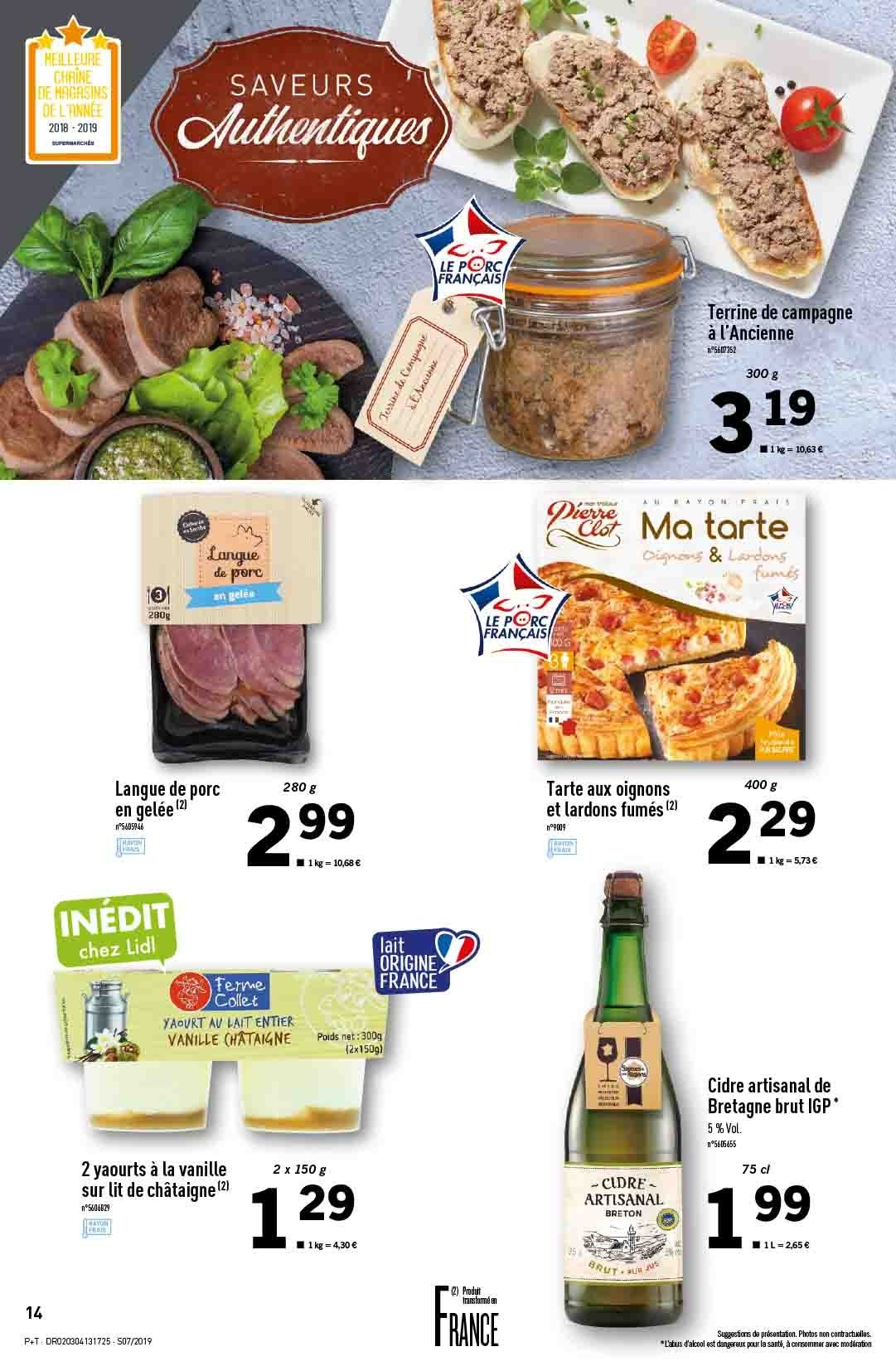 Catalogue Lidl - 13.02.2019 - 19.02.2019. Page 14.