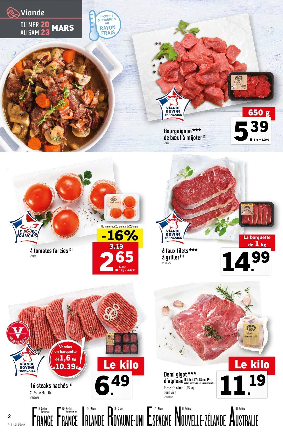 Catalogue Lidl - 20.03.2019 - 26.03.2019. Page 2.
