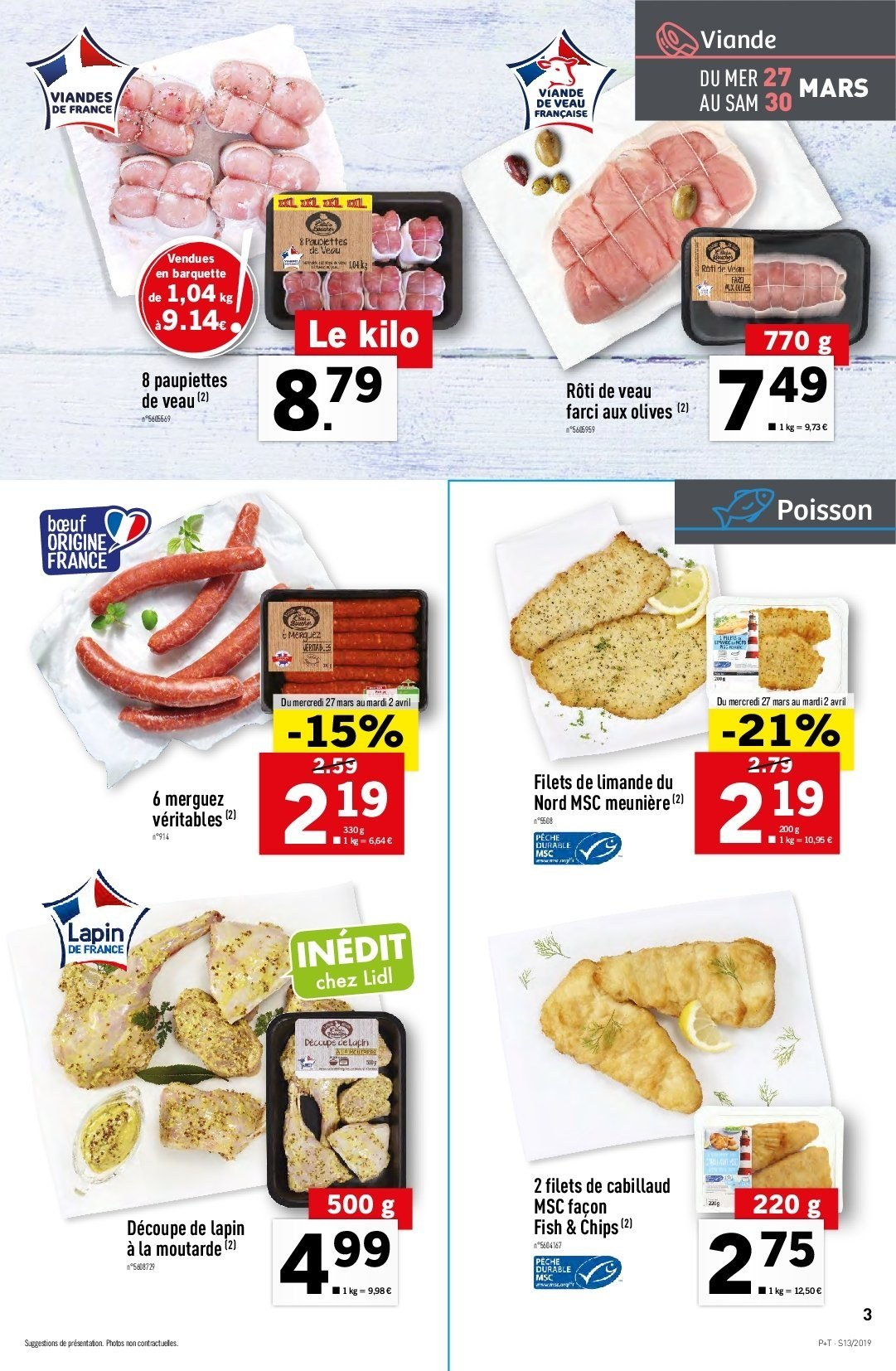 Catalogue Lidl - 27.03.2019 - 02.04.2019. Page 3.