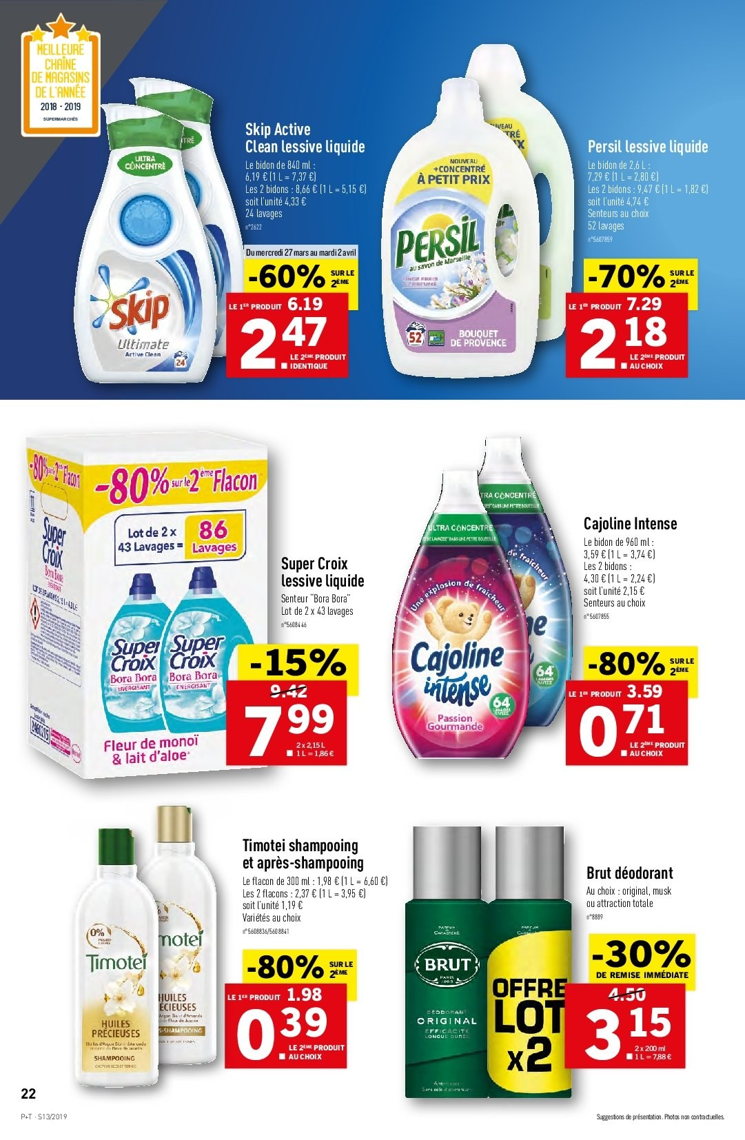 Catalogue Lidl - 27.03.2019 - 02.04.2019. Page 22.