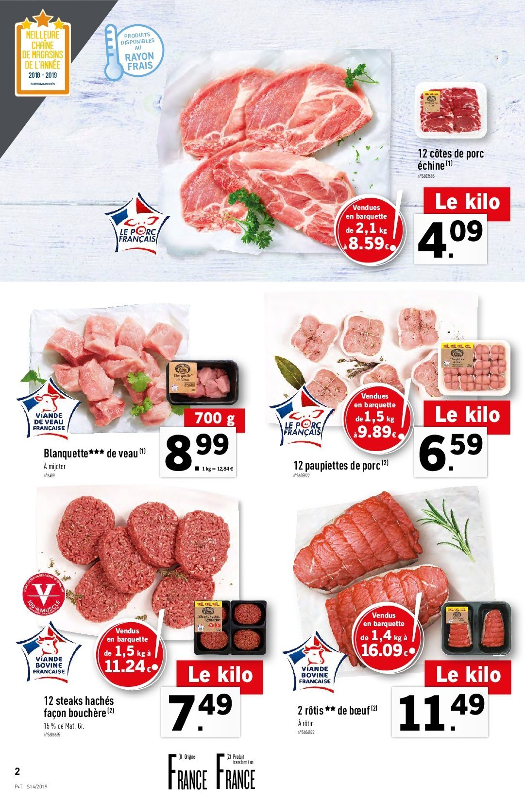 Catalogue Lidl - 03.04.2019 - 09.04.2019. Page 2.