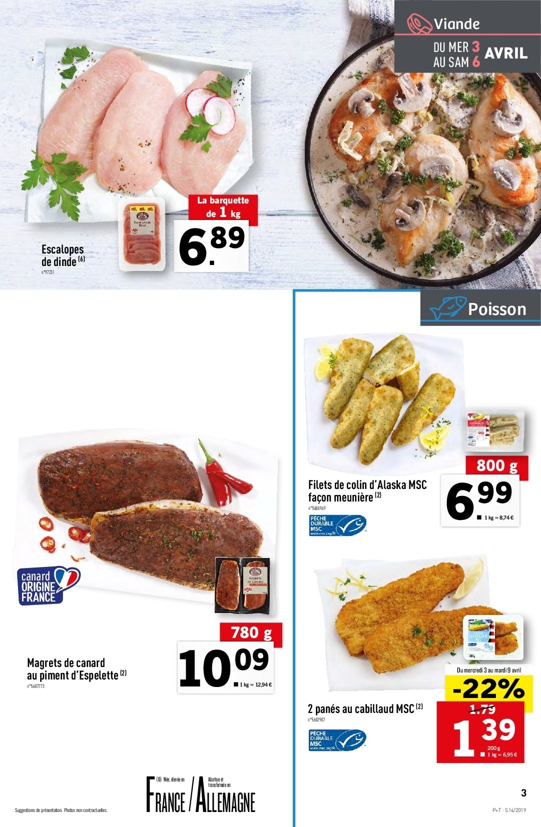 Catalogue Lidl - 03.04.2019 - 09.04.2019. Page 3.