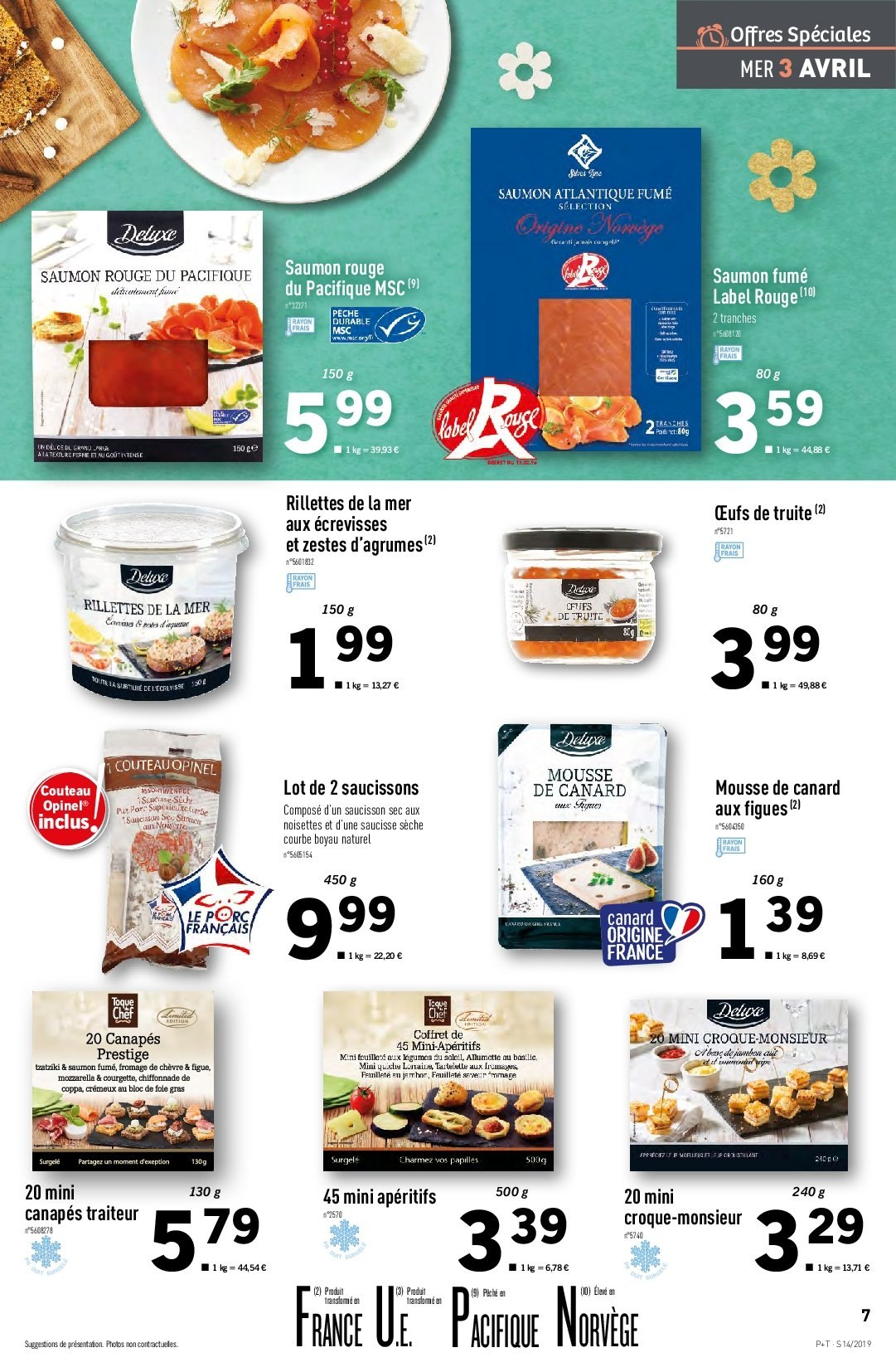 Catalogue Lidl - 03.04.2019 - 09.04.2019. Page 7.
