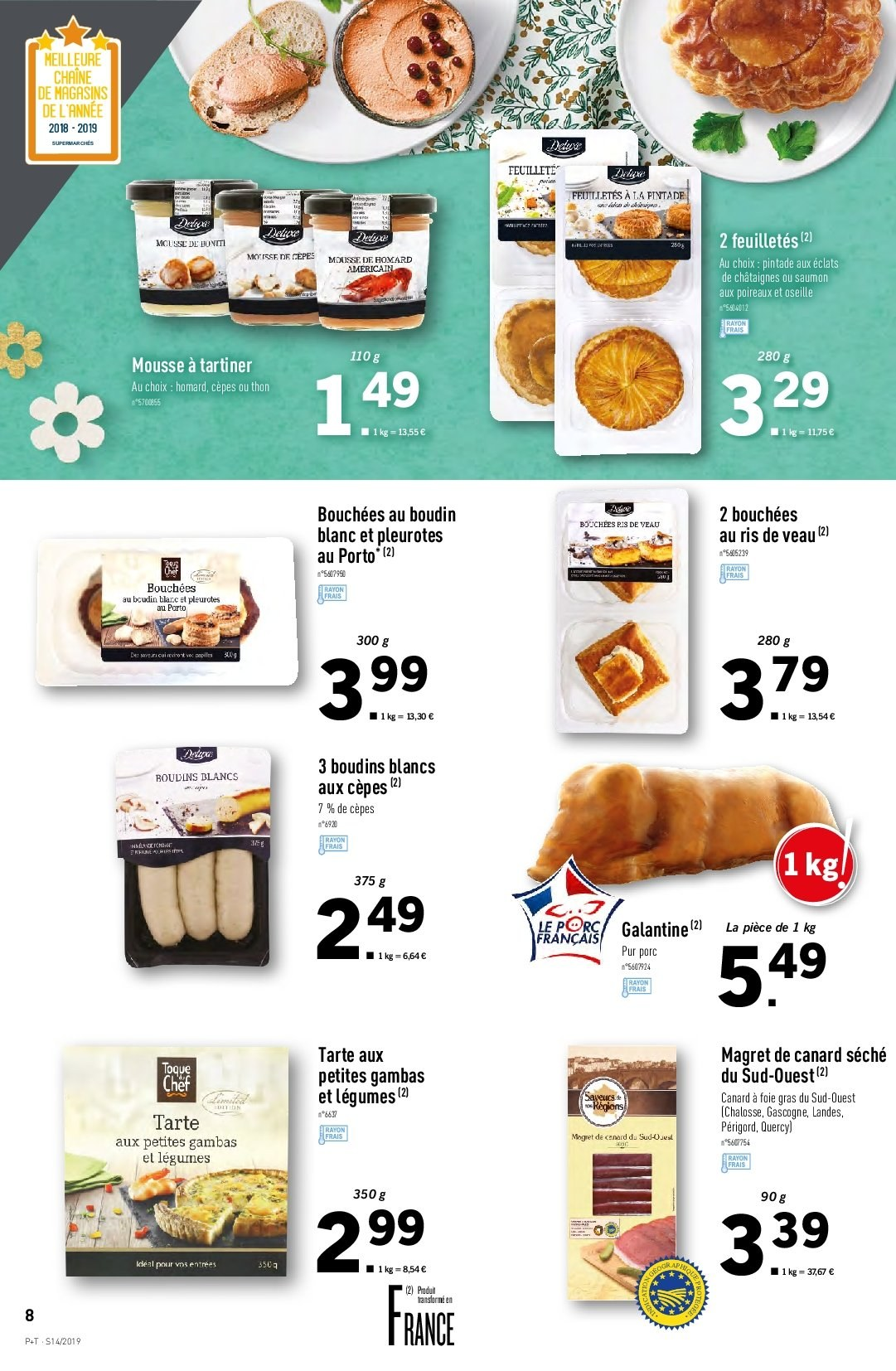 Catalogue Lidl - 03.04.2019 - 09.04.2019. Page 8.