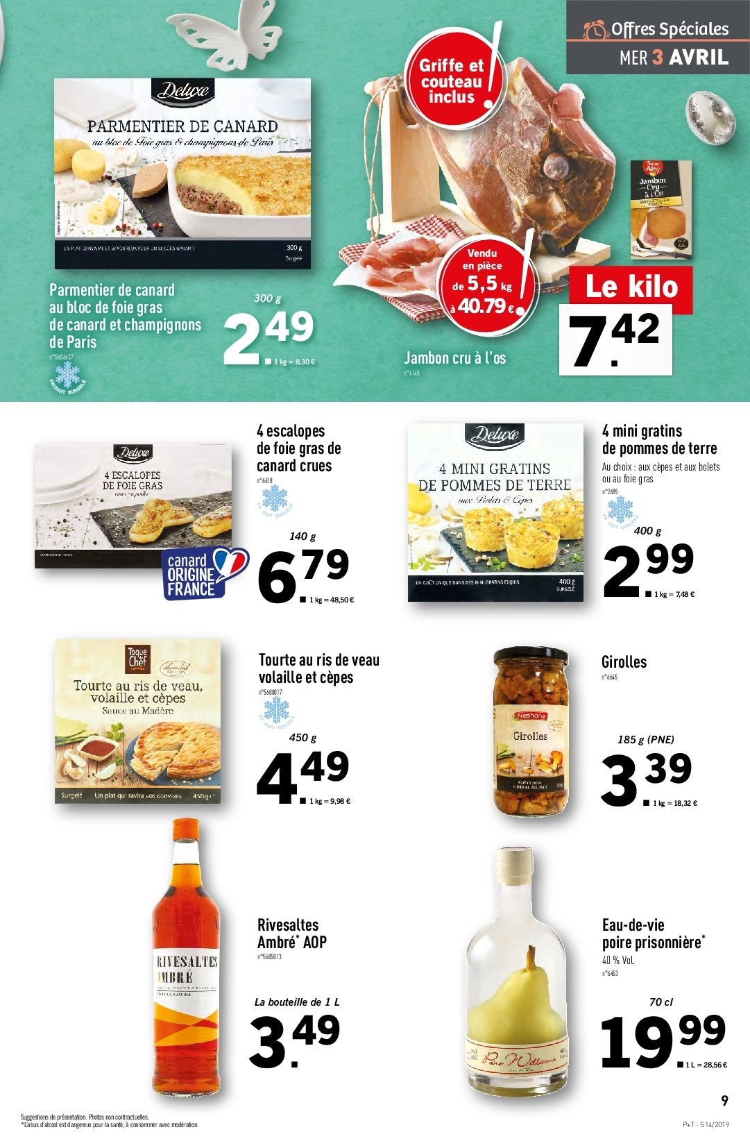 Catalogue Lidl - 03.04.2019 - 09.04.2019. Page 9.