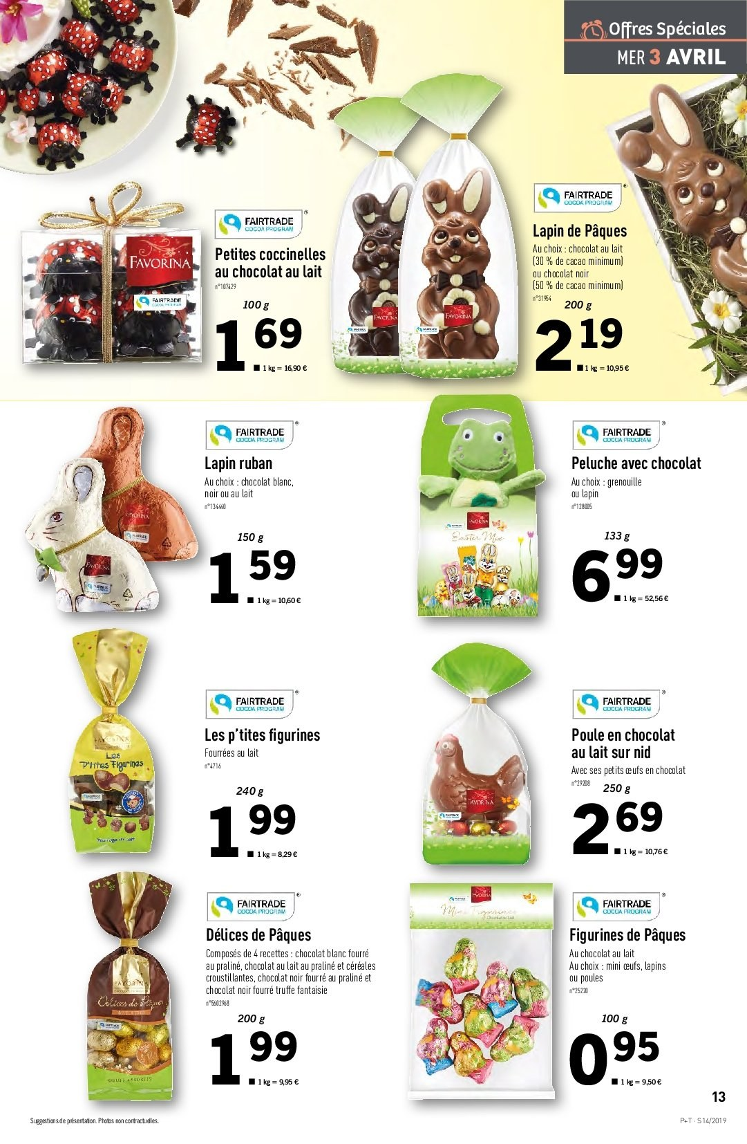 Catalogue Lidl - 03.04.2019 - 09.04.2019. Page 13.