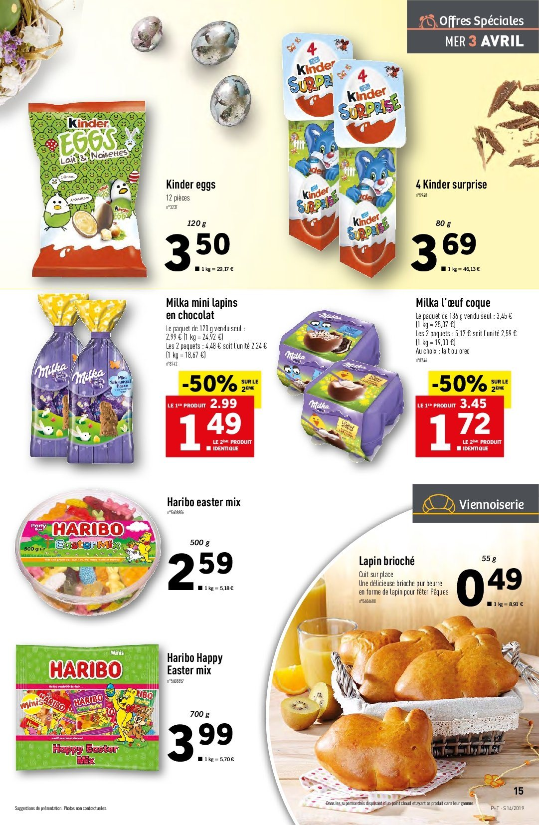 Catalogue Lidl - 03.04.2019 - 09.04.2019. Page 15.