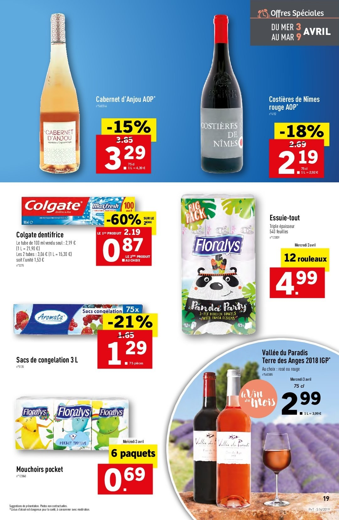 Catalogue Lidl - 03.04.2019 - 09.04.2019. Page 19.