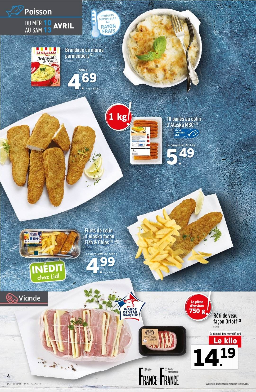 Catalogue Lidl - 10.04.2019 - 16.04.2019. Page 4.
