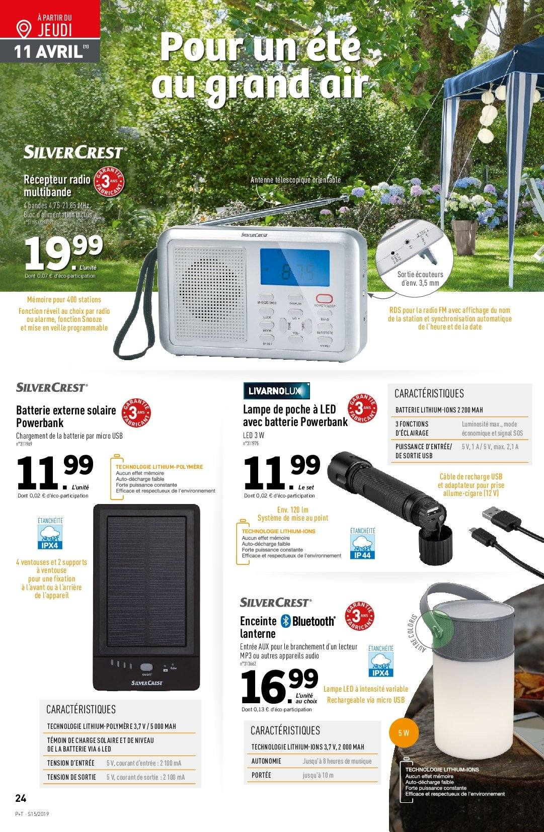 Catalogue Lidl - 10.04.2019 - 16.04.2019. Page 24.