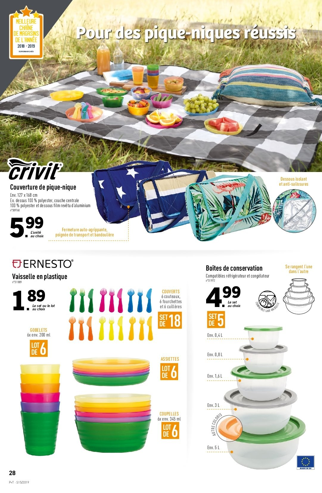 Catalogue Lidl - 10.04.2019 - 16.04.2019. Page 28.