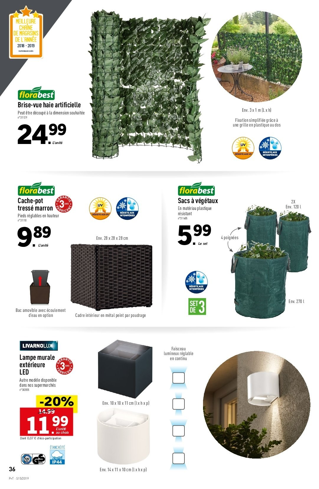 Catalogue Lidl - 10.04.2019 - 16.04.2019. Page 36.