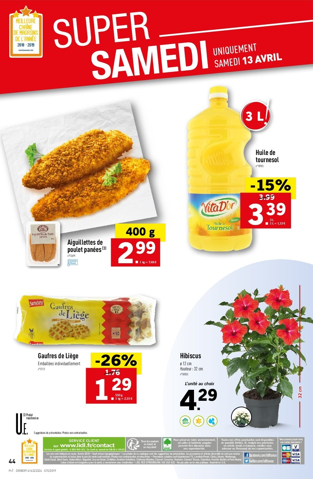 Catalogue Lidl - 10.04.2019 - 16.04.2019. Page 46.