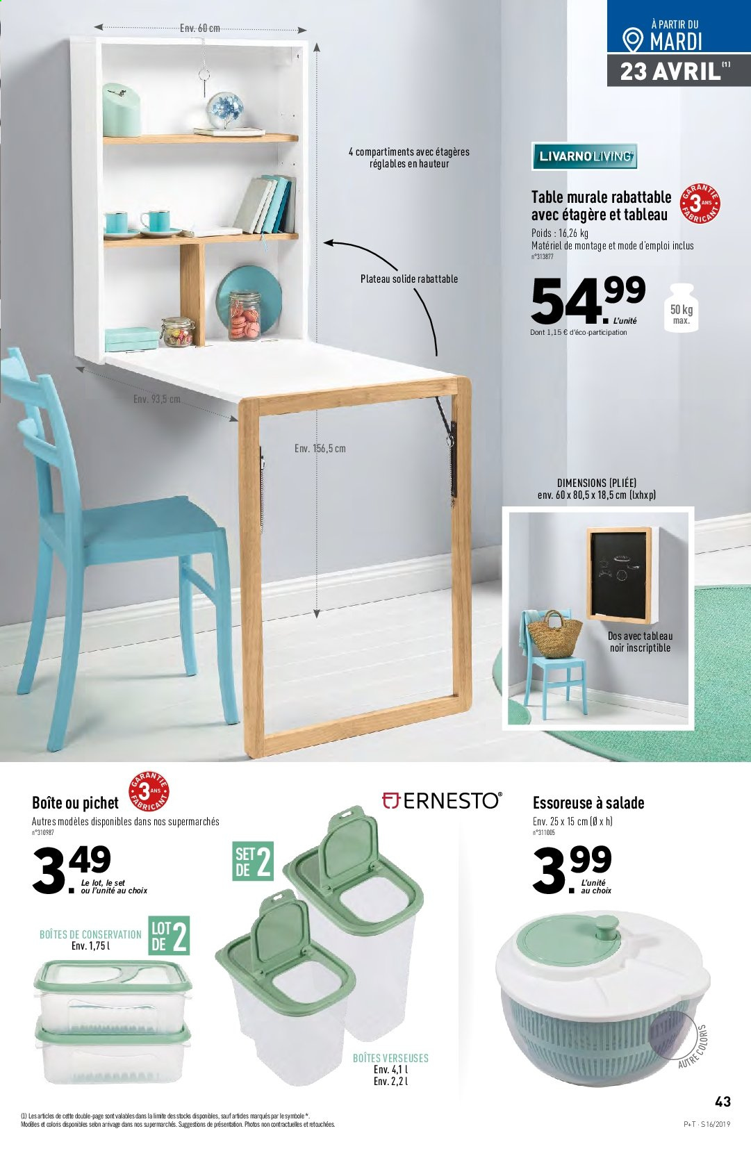 Catalogue Lidl - 17.04.2019 - 23.04.2019. Page 45.