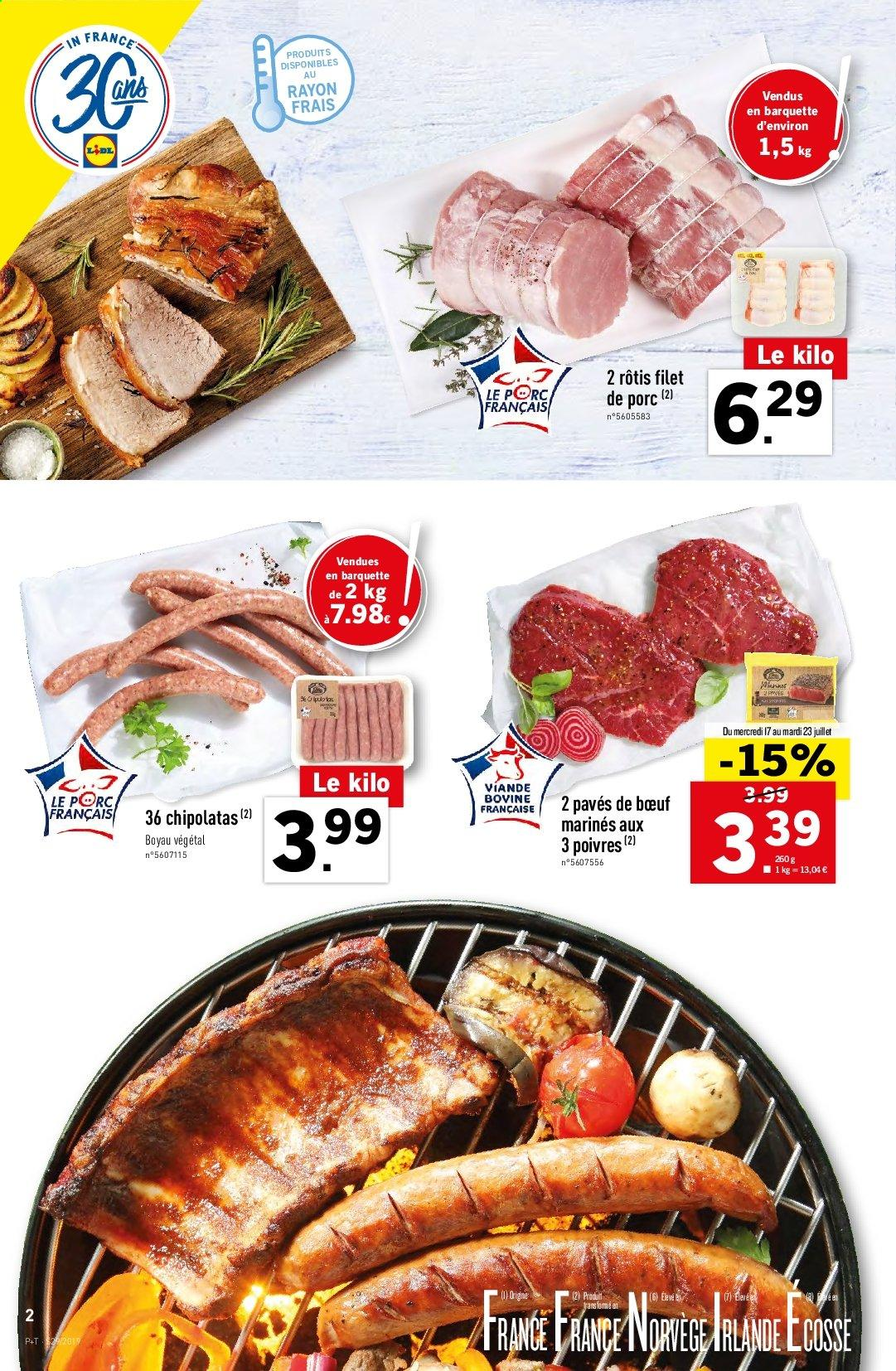 Catalogue Lidl - 17.07.2019 - 23.07.2019. Page 2.