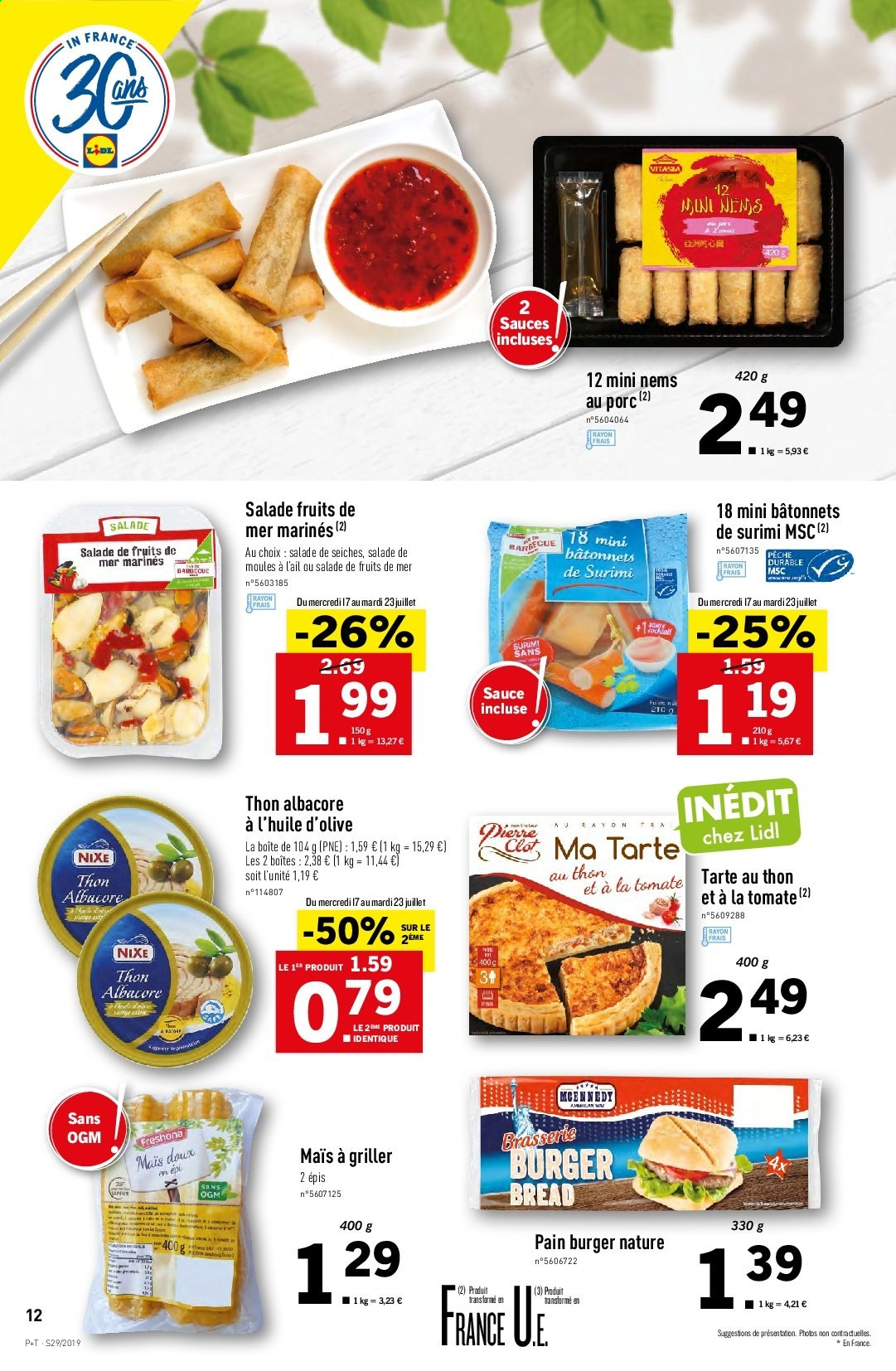 Catalogue Lidl - 17.07.2019 - 23.07.2019. Page 12.