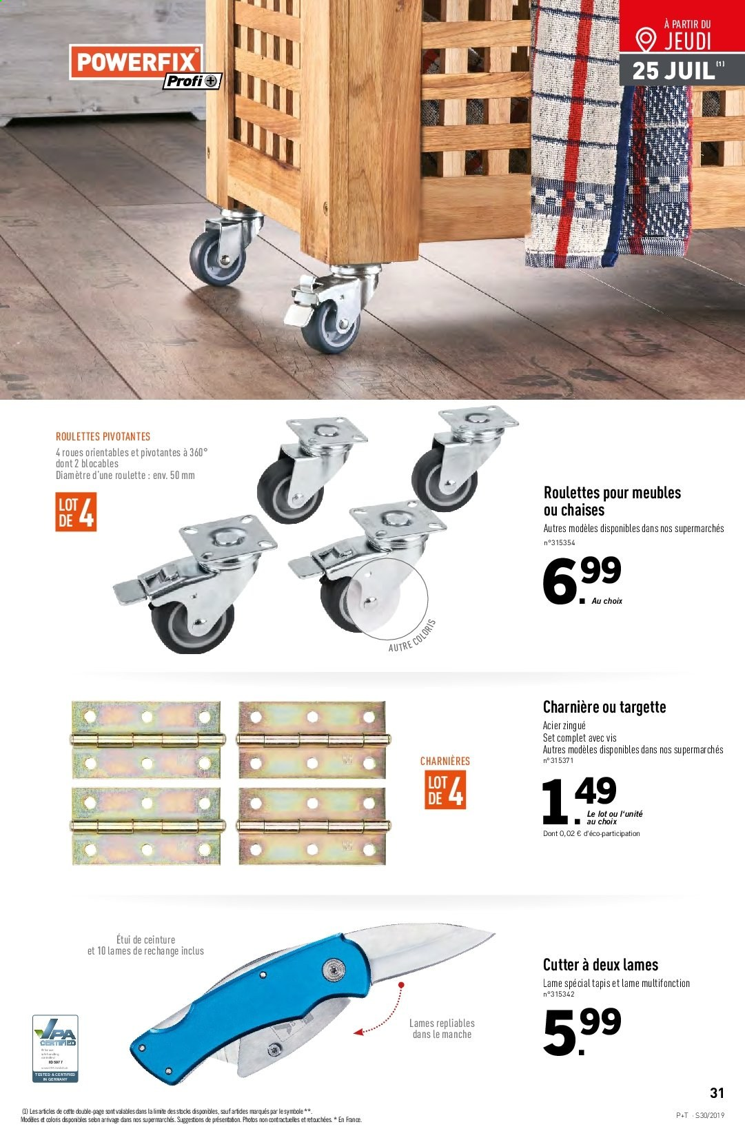 Catalogue Lidl - 24.07.2019 - 30.07.2019. Page 31.