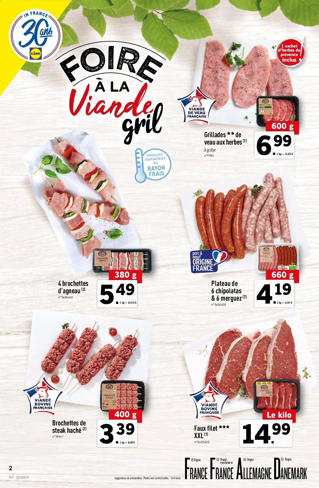 Catalogue Lidl - 31.07.2019 - 06.08.2019. Page 2.