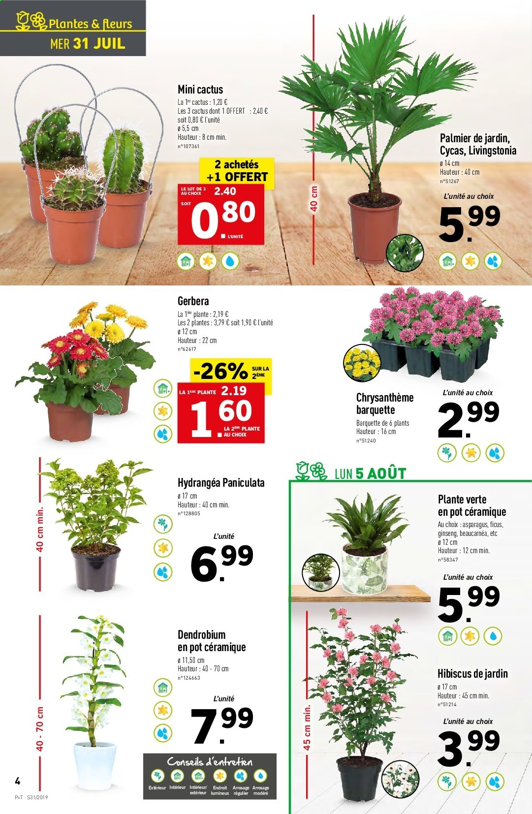 Catalogue Lidl - 31.07.2019 - 06.08.2019. Page 4.
