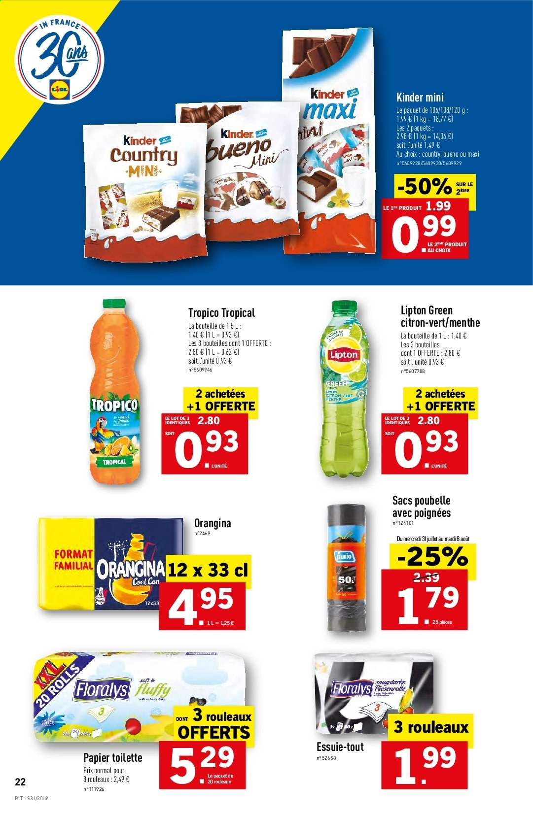 Catalogue Lidl - 31.07.2019 - 06.08.2019. Page 22.