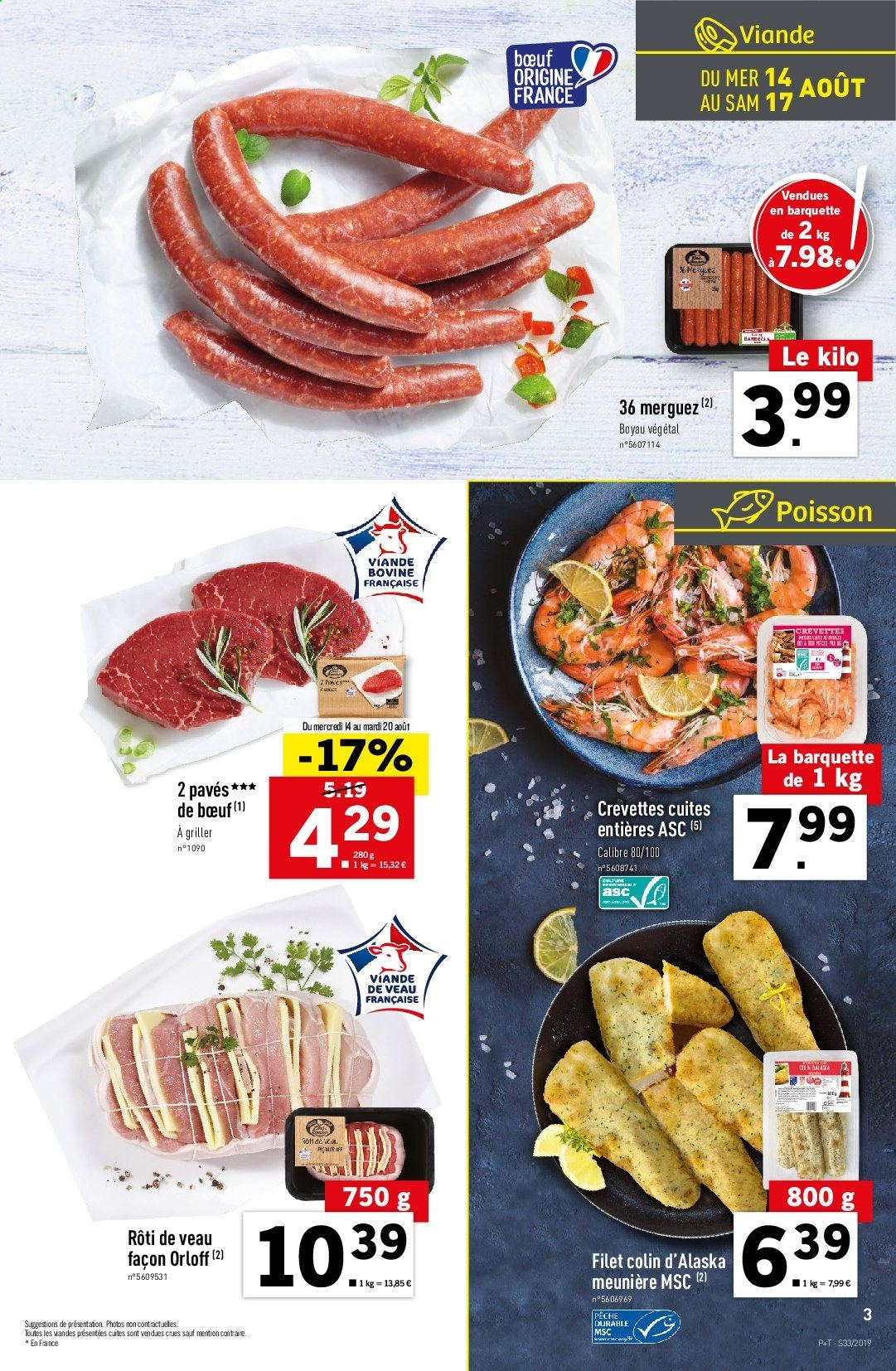 Catalogue Lidl - 14.08.2019 - 20.08.2019. Page 3.